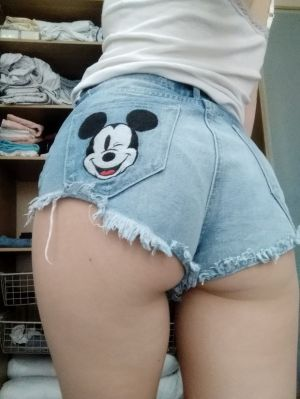 Pic - senses cute to put on fresh pair of cut-offs after getting nailed by  different guys in one day