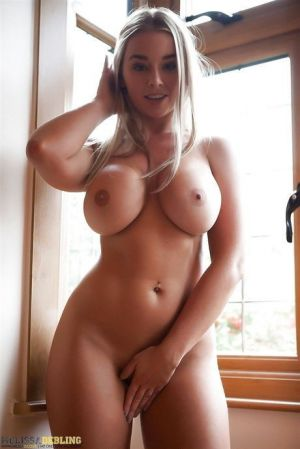 Pic - blond thickness impressive figure