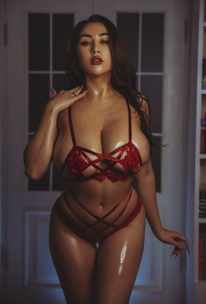 Pic - Louisa khovanski in crimson puny brassiere