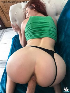 Pic - ginger-haired gets nailed from behind on couch