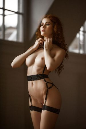Pic - ginger-haired corset