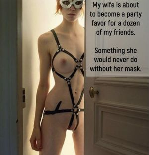 Pic - Her mask gives her courage.