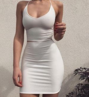 Pic - ideal figure in a taut milky clothing