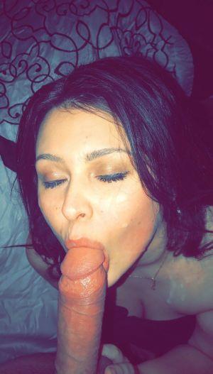 Pic - cuckold wifey deep throats buddy