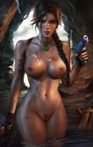Pic - Lara croft uncircumcised.