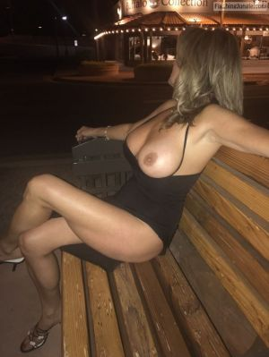 Pic - Flashing jungle - johns handsome wifey flashing tits outdoors