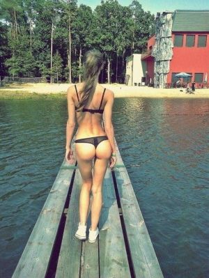 Pic - handsome swimsuit blond lake