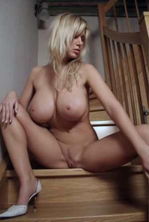 Pic - handsome tits slightly furry blond on stairs
