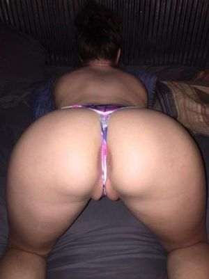 Pic - Look at the way your huge tiny vagina gobbles that g-string!