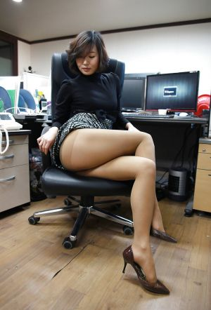 Pic - tights image entitled working late again